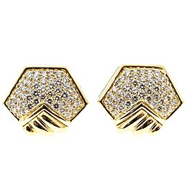 Hammerman Brothers 18K Yellow Gold & Diamond Clip Post Earrings