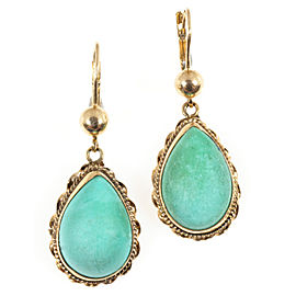 14K Rose Gold 6.50ct Turquoise Earrings