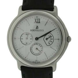 Bertolucci 708.41.3026 Stainless Steel & Leather 36mm Watch