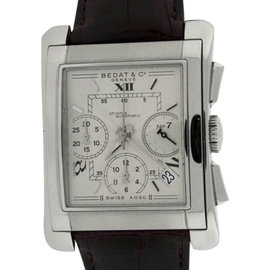 Bedat No.7 Stainless Steel & Leather Chronograph Mens Watch