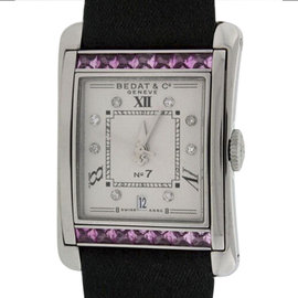 Bedat & Co. Stainless Steel With Pink Sapphires and Diamonds Womens Watch