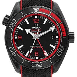 Omega Planet Ocean Deep Black Ceramic GMT Watch 215.92.46.22.01.003