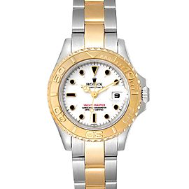 Rolex Yachtmaster 29mm White Dial Steel Yellow Gold Watch 69623