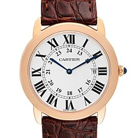 Cartier Ronde Solo Large Rose Gold Steel Mens Watch W6701008