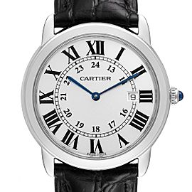 Cartier Ronde Solo Large Silver Dial Steel Unisex Watch W6700255