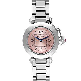 Cartier Miss Pasha Steel Pink Dial Ladies Watch W3140008