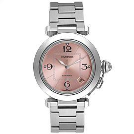 Cartier Pasha C Midsize Pink Dial Automatic Ladies Watch W31075M7