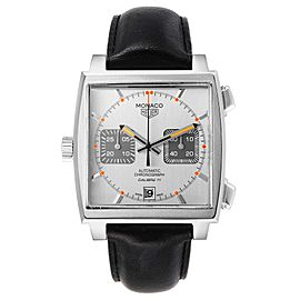 Tag Heuer Monaco Silver Dial Limited Steel Mens Watch CAW211C