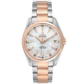 Omega Aqua Terra Steel Rose Gold Diamond Mens Watch 231.20.39.21.55.001