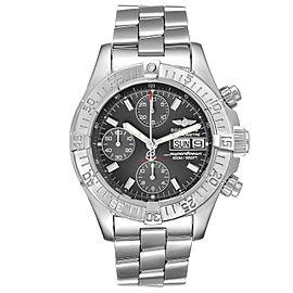 Breitling Aeromarine Superocean Gray Dial Steel Mens Watch A13340