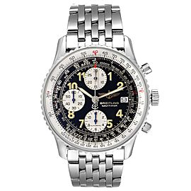 Breitling Navitimer II Black Dial Steel Mens Watch A13022 Box Papers