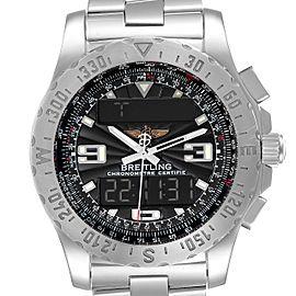 Breitling Airwolf GMT Grey Dial Quartz Steel Mens Watch A78363