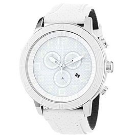 Citizen AT2200-04A Stainless Steel & White Leather Band 46mm Unisex Watch