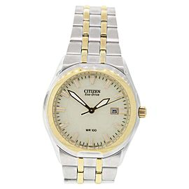 Citizen BM6844-57P Stainless Steel & Yellow Gold Champagne Dial 39mm Mens Watch
