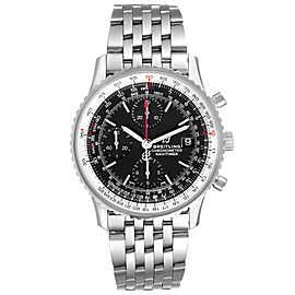 Breitling Navitimer Heritage Black Dial Steel Mens Watch A13324 Box Papers