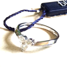 Bliss by Damiani 'Sirio' 18K White Gold Diamond Ring
