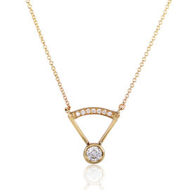 14K Yellow Gold 0.3ct Diamond Necklace
