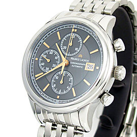 Maurice Lacroix Les Classiques LC6158-SS002-330-1 Stainless Steel Chronograph 41mm Mens Watch
