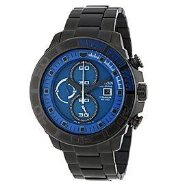 Citizen CA0525-50L Titanium & Blue Dial 50mm Mens Watch