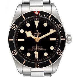 Tudor Heritage Black Bay Black Dial Steel Mens Watch 79030 Box Card