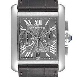 Cartier Tank MC Grey Dial Chronograph Mens Watch W5330008
