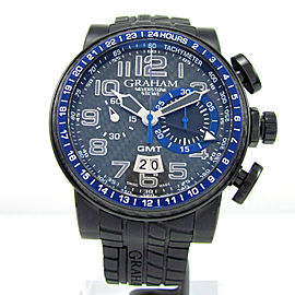 Graham Silverstone Stowe 2BLCB.B30A Black PVD Stainless Steel Automatic 48mm Mens Watch