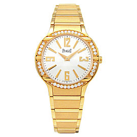 Piaget Polo G0A36031 18K Rose Gold Diamond Bezel 32mm Watch