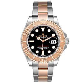Rolex Yachtmaster 40 Everose Gold Steel Black Dial Mens Watch 116621 Unworn