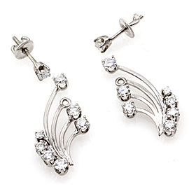 White 14k White Gold Diamond Womens Earrings