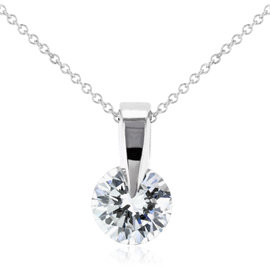 14K White Gold 0.5ct Diamond Necklace