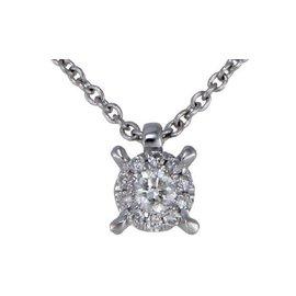 Bliss by Damiani 'Illusion' 18K White Gold Diamond Necklace