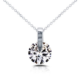 14K White Gold Wheel 1 7/8ct Diamond Necklace