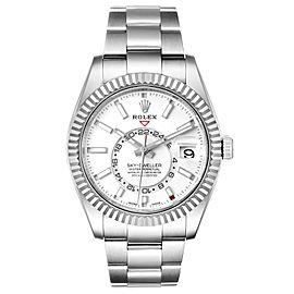 Rolex Sky-Dweller White Dial Steel White Gold Mens Watch 326934 Unworn