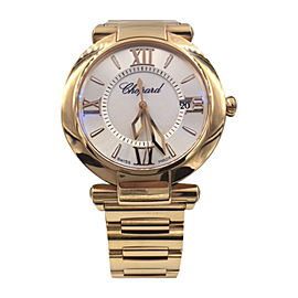 Chopard Imperiale 384221-5003 18K Rose Gold Mother of Pearl Quartz 36mm Womens Watch