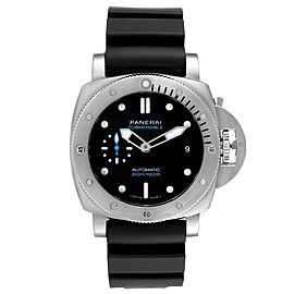 Panerai Luminor Submersible 42mm Black Dial Mens Watch PAM00973 Box Card