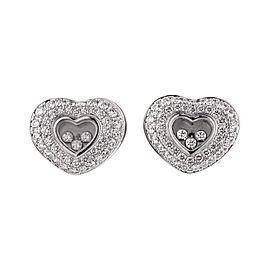 Chopard 18K White Gold Happy Diamonds Heart Earring