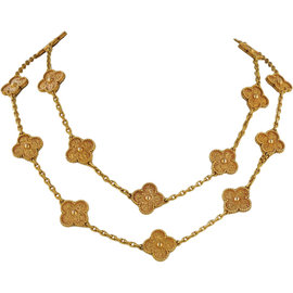 Van Cleef & Arpels 18K Rose Gold Alhambra Necklace