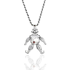 Chopard Happy Diamonds 18K White Gold and Rubies Clown Necklace