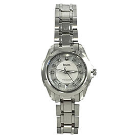 Bulova Precisionist 96P115 Stainless Steel & Diamond 29mm Womens Watch