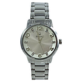 Bulova 96P111 Stainless Steel Mother of Pearl Dial 32mm Womens Watch