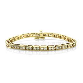 14K Yellow Gold 5.60ct. Diamond Tennis Bracelet