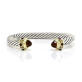 David Yurman Renaissance Sterling Silver & 14K Yellow Gold Citrine & Garnet Bracelet