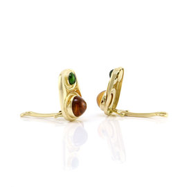 Yellow Gold Tourmaline, Citrine Womens Earrings