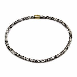 John Hardy Sterling Silver and 18K Yellow Gold Classic Necklace