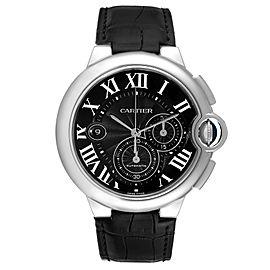 Cartier Ballon Bleu Steel Black Dial Chronograph Mens Watch W6920052