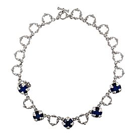 Judith Ripka Synthetic 18K White Gold with Sapphire & Diamond Necklace