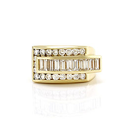 Charles Krypell 18K Yellow Gold & Diamond Ring Size 4.75