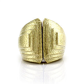 David Webb 18K Yellow Gold Ancient World Step Ring Size 5