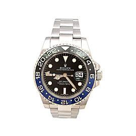 "Rolex GMT-Master II ""Batman"" 116710 Stainless Steel Ceramic Black & Blue 40mm Mens Watch"