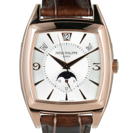 Patek Philippe Gondolo Annual Calendar 5135R-001 18K Rose Gold / Leather 39mm Mens Watch